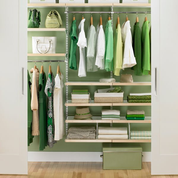 small space storage closet organization