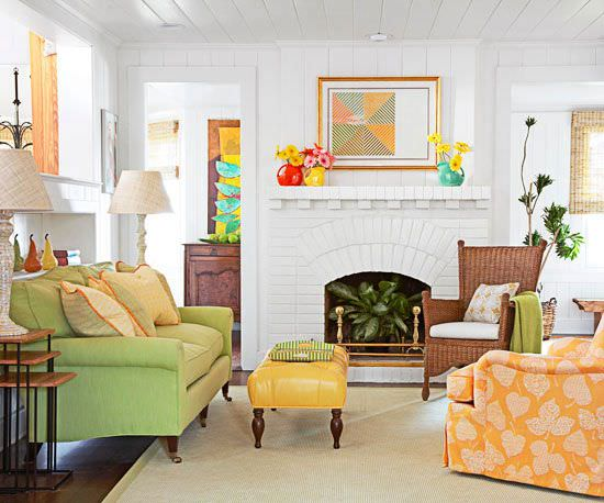How to use color in small space decorating decorating for Small room uses