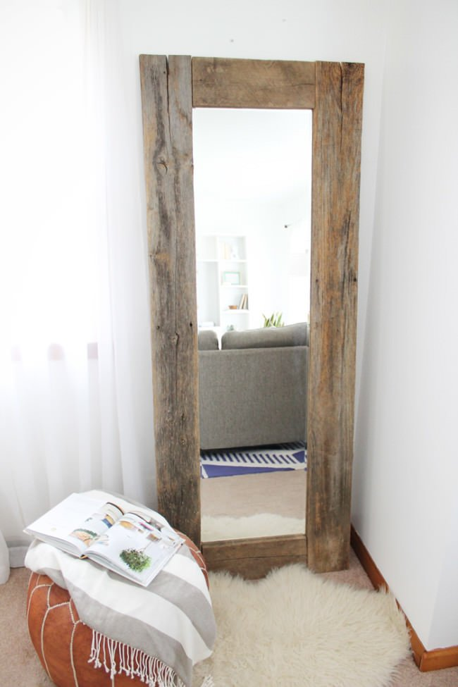 Trending diy mirror projects reflect a larger space for Diy mirror frame decoration