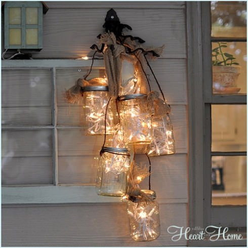 More diy mason jar lighting ideas decorating your small space mason jar chandelier aloadofball Gallery