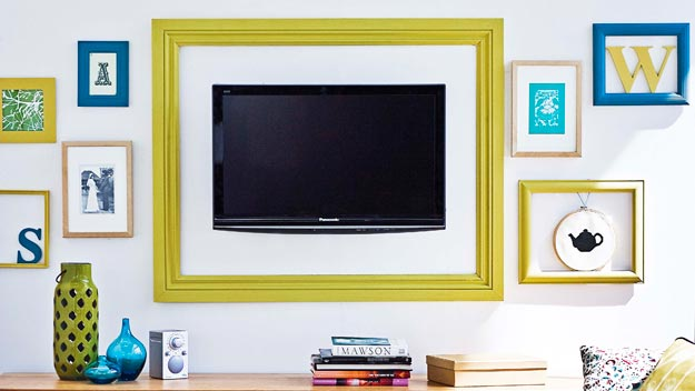 This Is A Great Example Of Turning The Tv Into Art Notice How Color Frame Around Ties In With Other Artwork From One Kings Lane