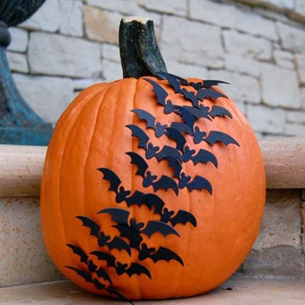 No carve bat pumpkins