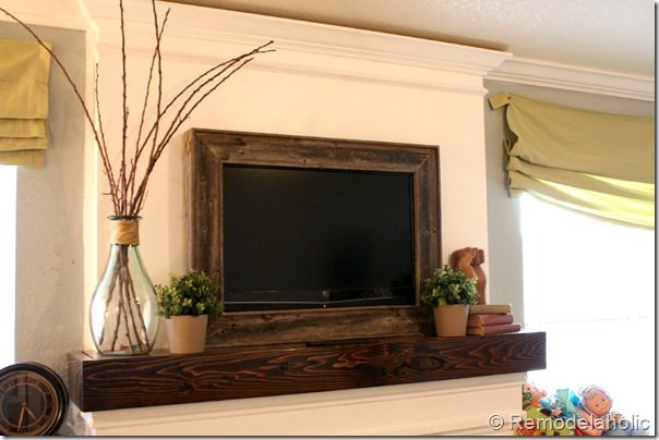 Diy Tv Frame Disguise That Flat Screen Decorating Your Small Space