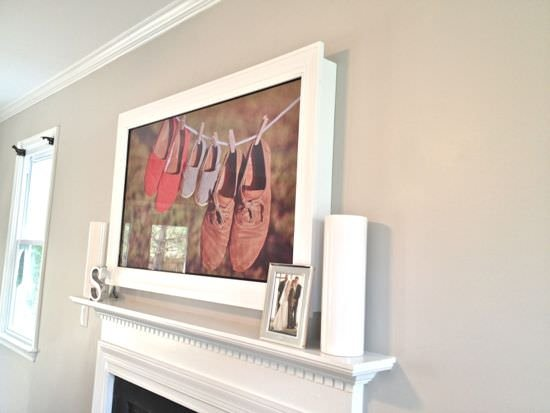 Diy Tv Frame Disguise That Flat Screen Decorating Your