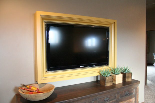 Diy Tv Frame Disguise Your Tv Ohmeohmy Blog