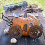 Junk pumpkin decorating