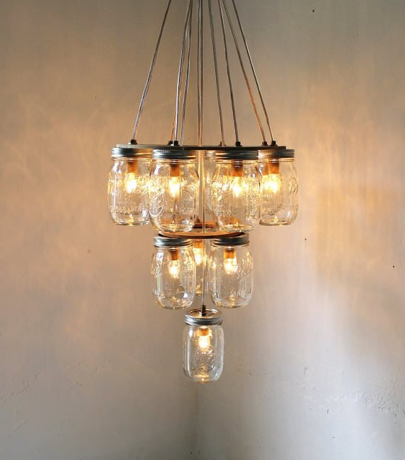 More diy mason jar lighting ideas decorating your small for Lamp making ideas