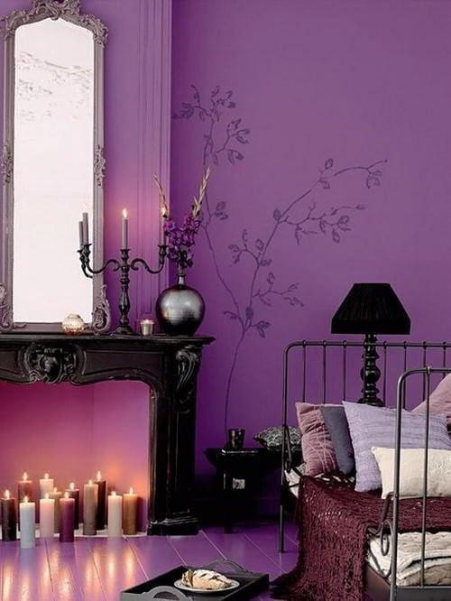 Romantic purple bedroom