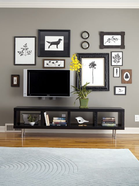 Excellent Tv With Picture Frame Around It - Round Designs SJ46