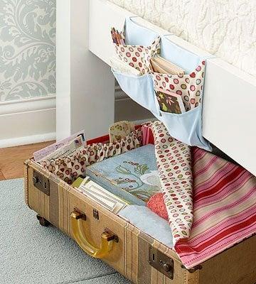 Luggage under bed storage