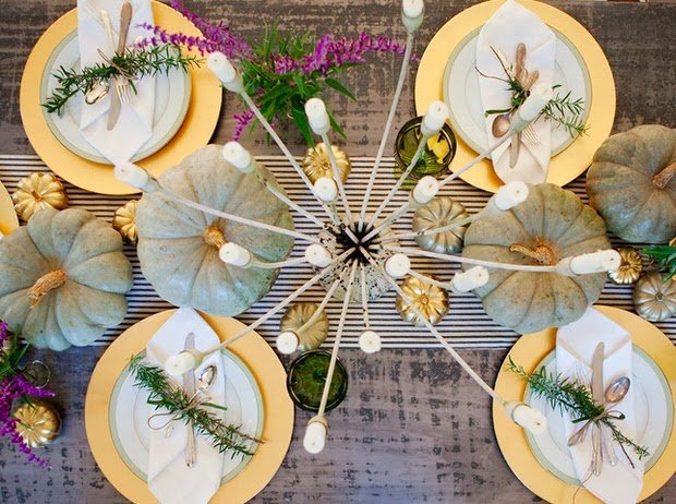 Modern herb table setting
