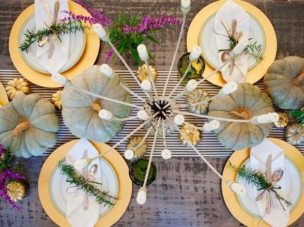 Modern herb table setting