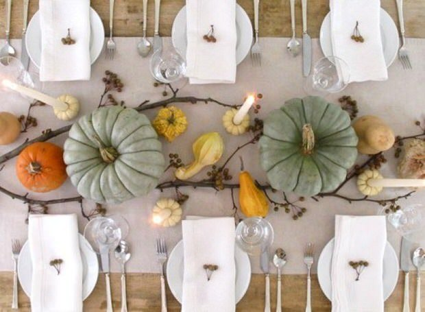 Not your mother 39 s thanksgiving table decorating your Simple thanksgiving table decorations