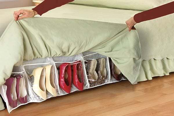 Under bed shoe storage