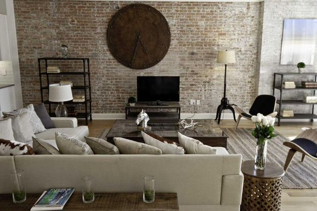 Urban Rustic living room