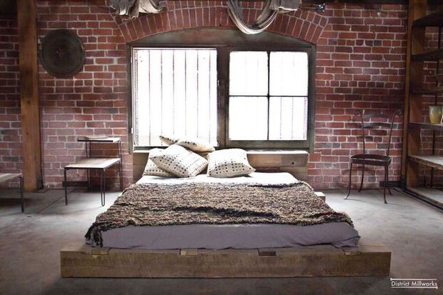 Urban rustic bedroom