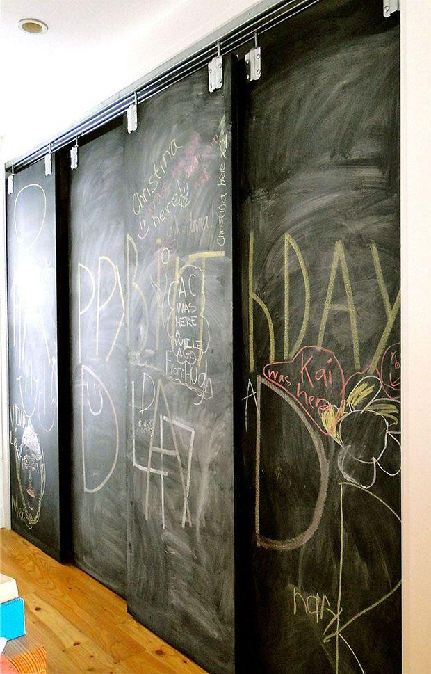 Closet chalkboard paint