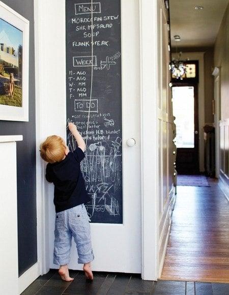 Chalk paint pantry