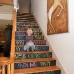 Chalkbaord stairs