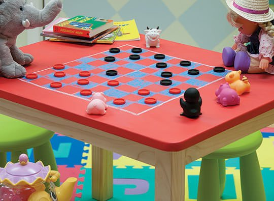 Kis table chalkboard paint