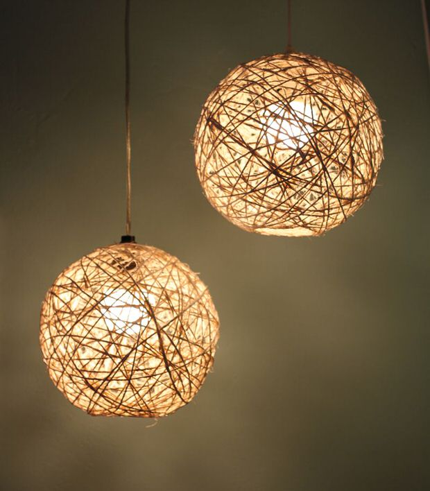 Twine pendant light