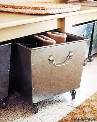 Bins on casters