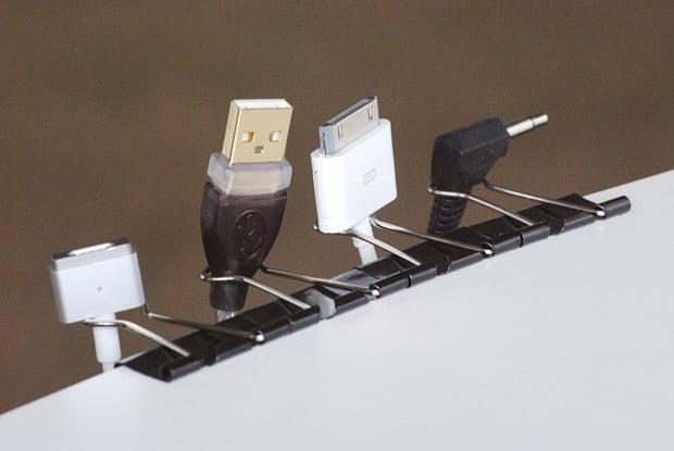 clever storage ideas - cord storage
