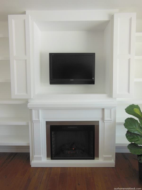 ... Hidden TV Nook By U0027Remodelaholicu0027. There Are So Many People With Just A  Boring TV Above A Plain Fireplaceu2026 Why Not Make It Amazing?