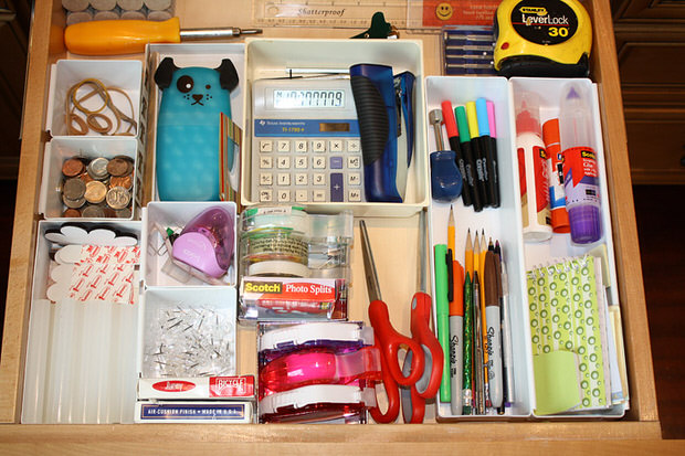 organize junk drawer