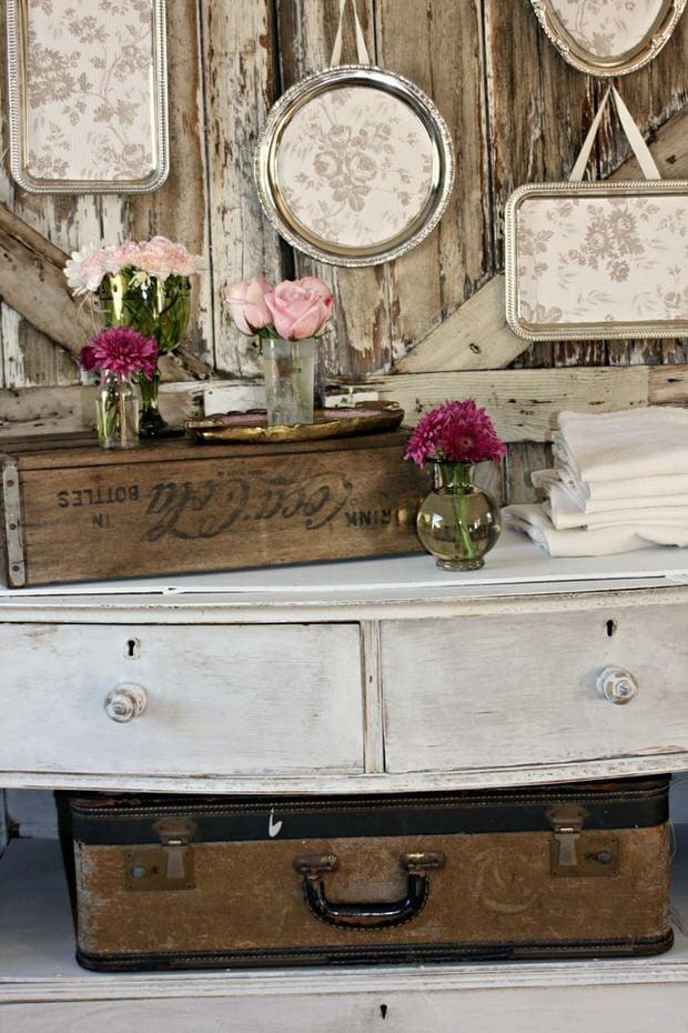 Silver trays silver trays trays and silver for Repurposed home decorating ideas