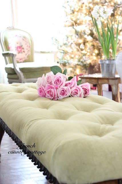 DIY french tufted bench