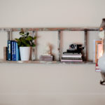 DIY ladder booshelf