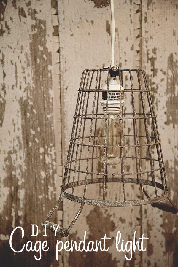 DIY cage pendant