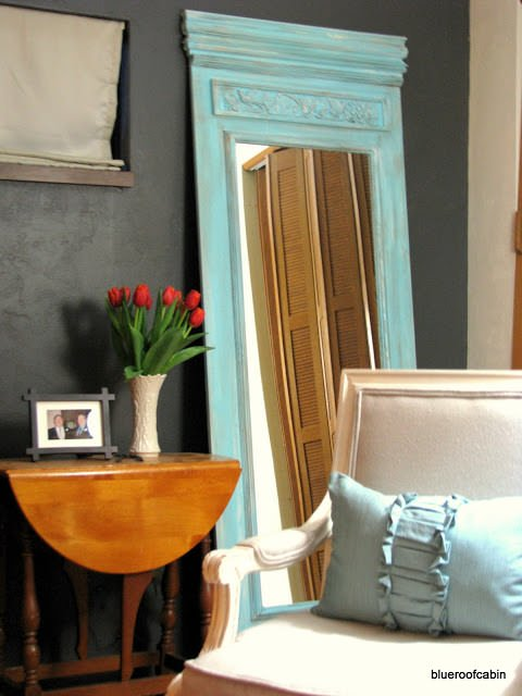 Blue Roof Cabin created this DIY Trumeau Floor Mirror from plywood ...