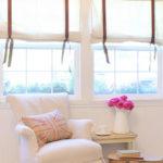DIY drop cloth blinds