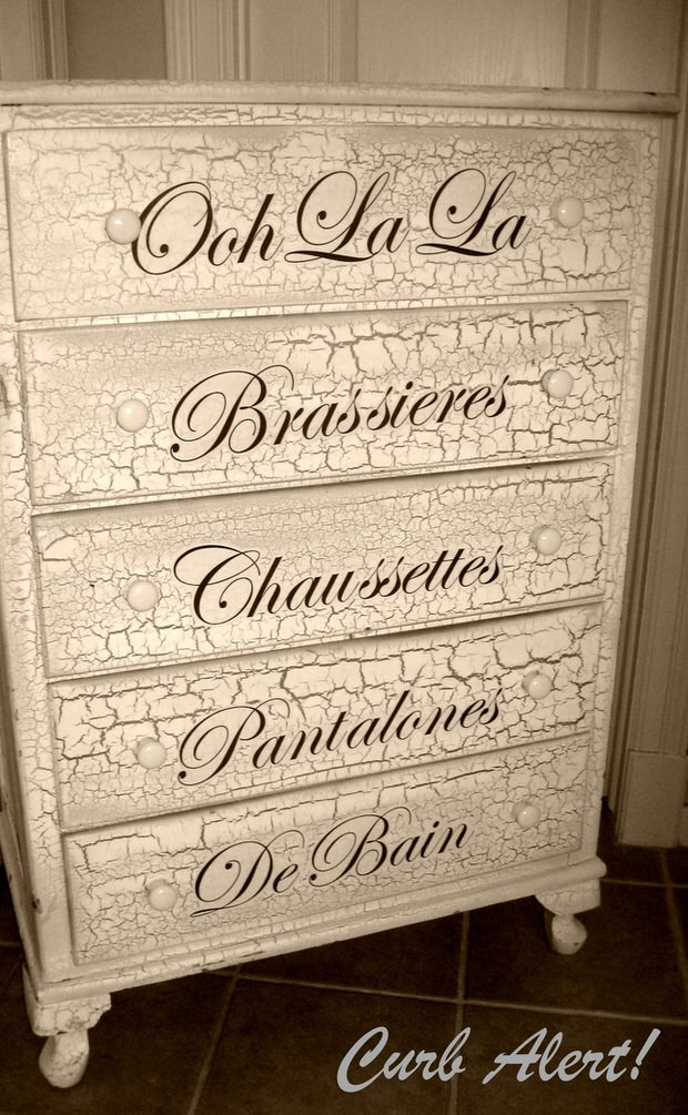 DIY french dresser