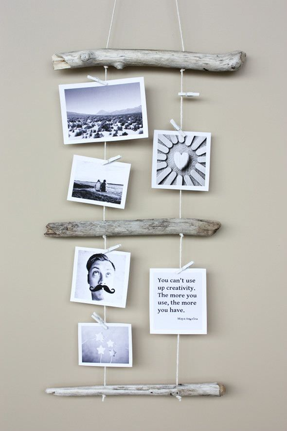 driftwood photo display