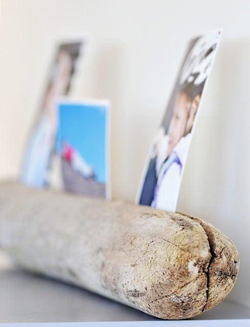 driftwood photo stand