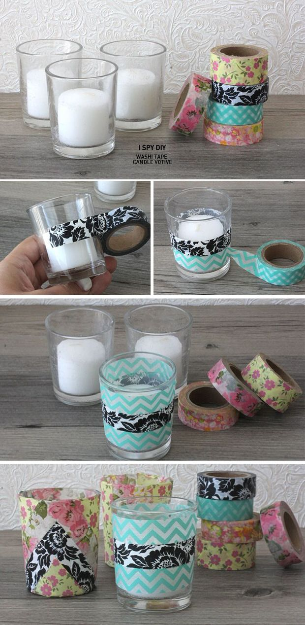 Washi tape diy projects decorating your small space for What can you do with washi tape