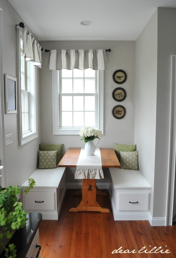 small dining room decorating ideas pinterest   DIY Dining Nooks and Banquettes   Decorating Your Small Space