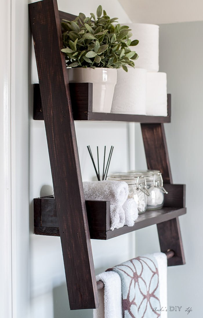 22 easy diy floating shelves decorating your small space. Black Bedroom Furniture Sets. Home Design Ideas