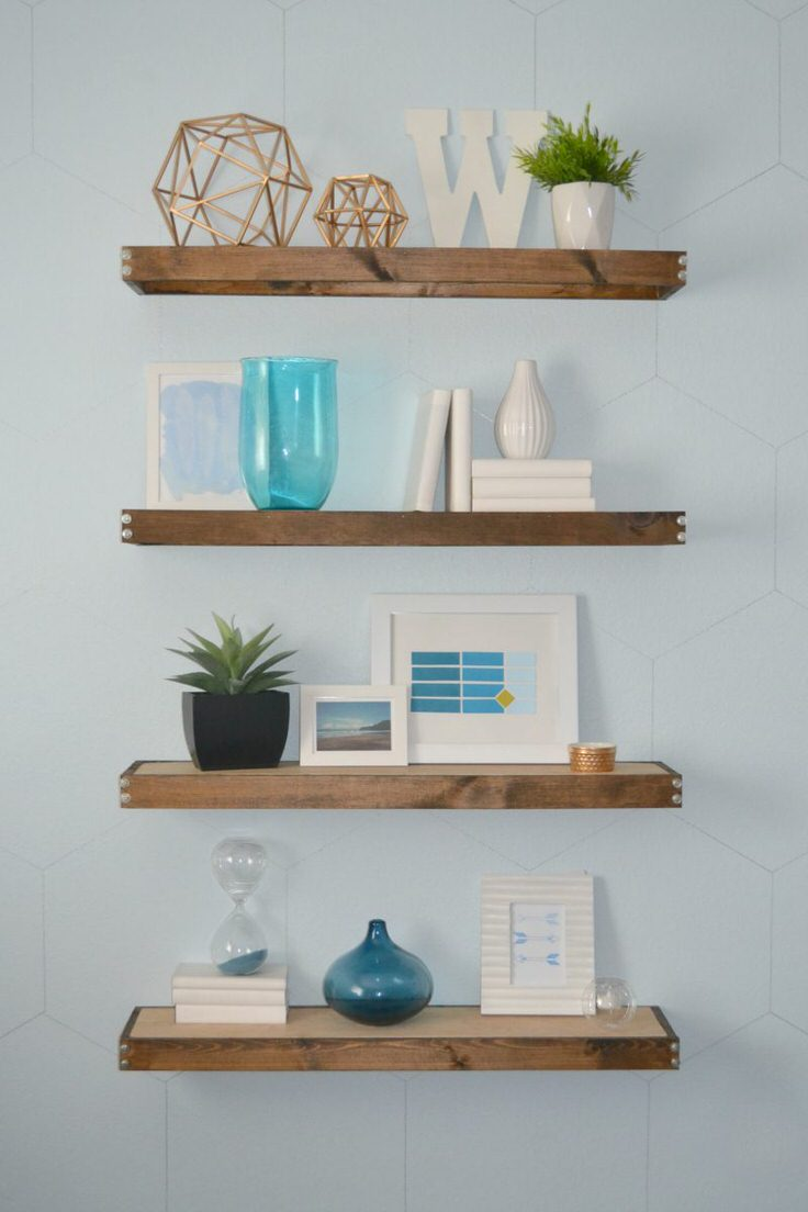 Jenna Sue Designs Made These Rustic Diy Floating Shelves For Her Kitchen And I Love Them Being Used As Open Shelving Great Tutorial