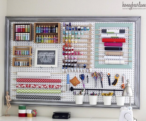U0027Honey Bear Laneu0027 Has This Framed Large Pegboard Tutorial You Wonu0027t Want To  Miss. This Would Be Great In Any Room Actually, My Office Most Of All!