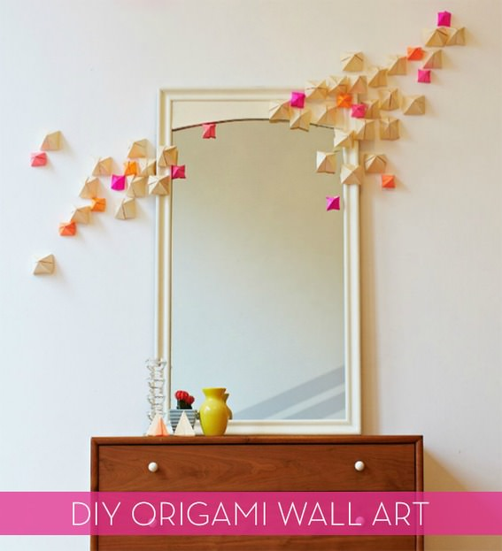 How To Make Wall Decor With Paper : D wall art projects decorating your small space
