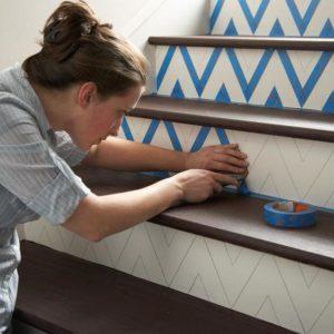How to Paint Chevron Stripes