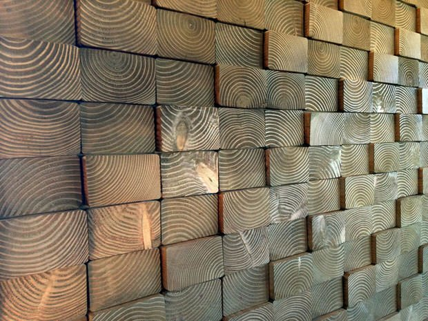 Unusual Wall Finishes : Diy wood walls decorating your small space