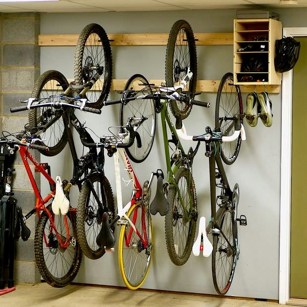6 Creative Garage Design Ideas: Creative DIY Bike Storage Racks