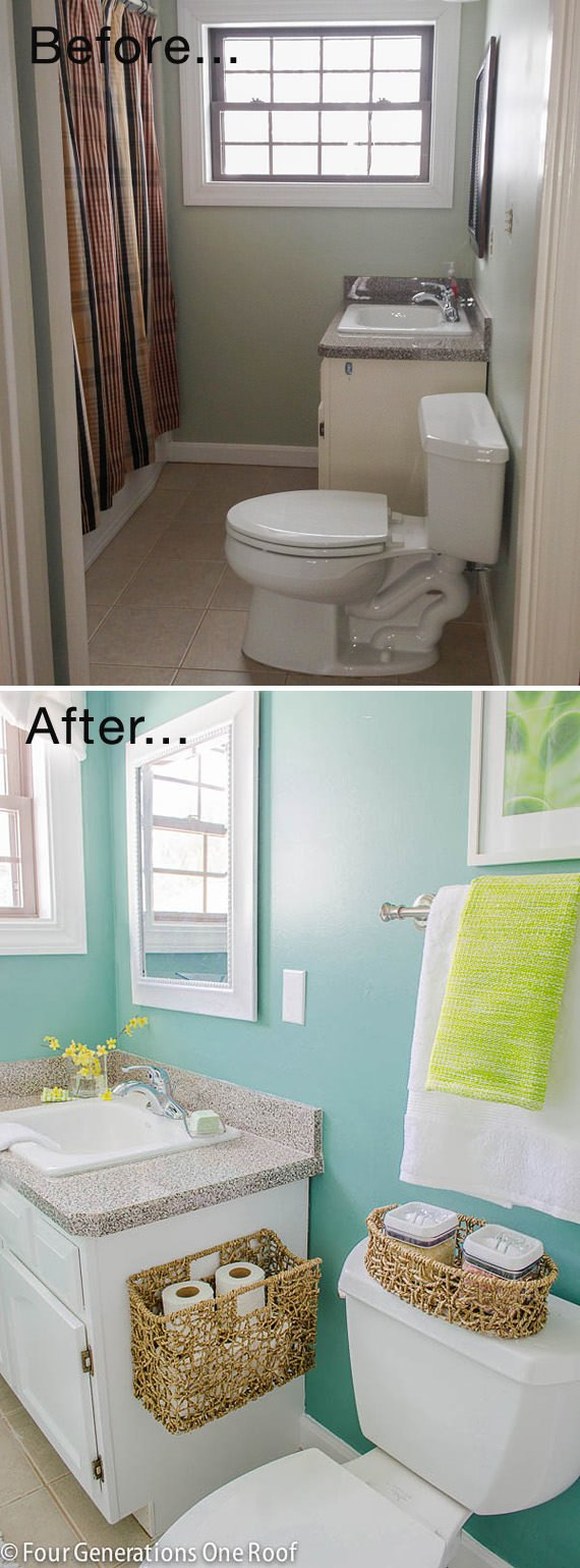 Small Bathroom Ideas Makeovers Decorating Your Small Space - Mini bathroom makeover