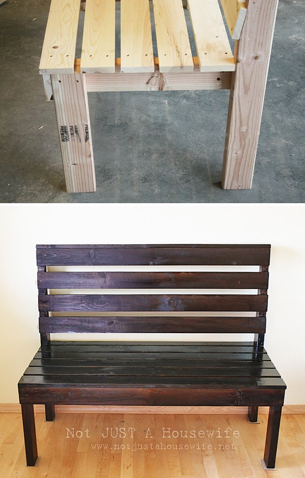 15 diy entryway bench projects sufey for Building a mudroom bench