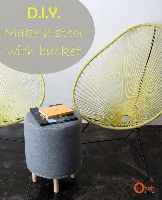stool bucket DIY 1
